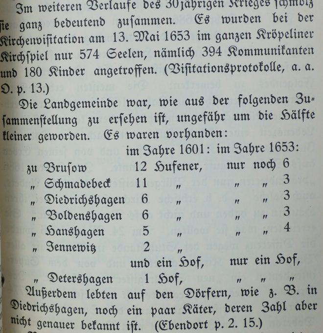 Ausriss Chronik Kröpelin von 1932