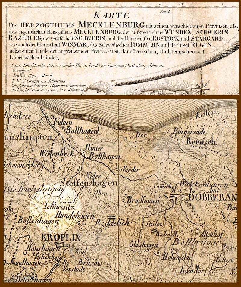 Schmettau-Karte-Jennewitz