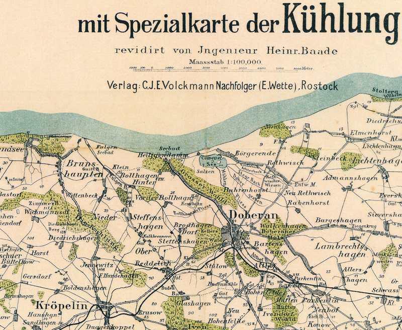 Wanderkarte 1905