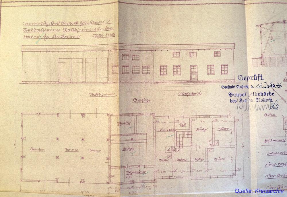 Bauplan Jennewitz 1946