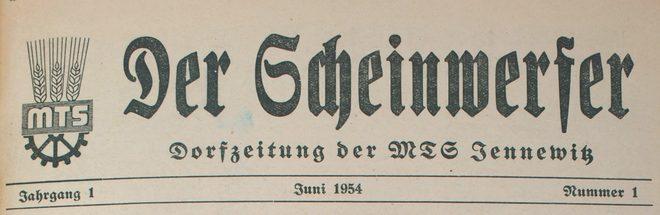 Dorfzeitung Jennewitz von 1954